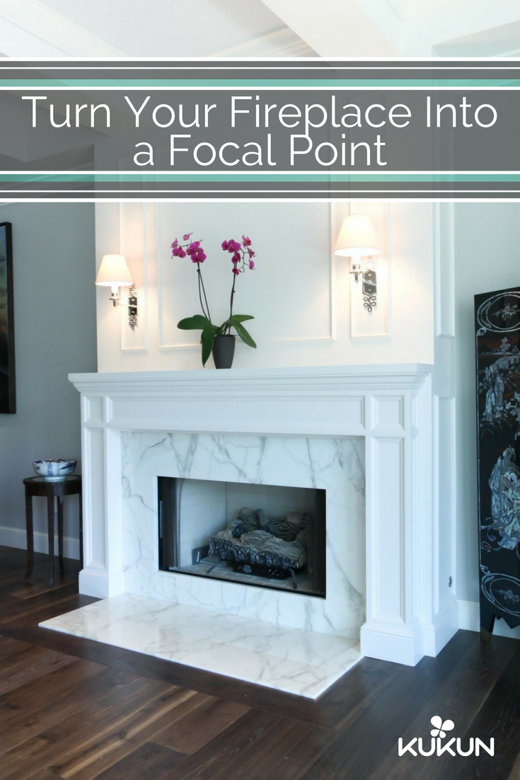 Update The Look Of Your Fireplace By Surrounding It With A