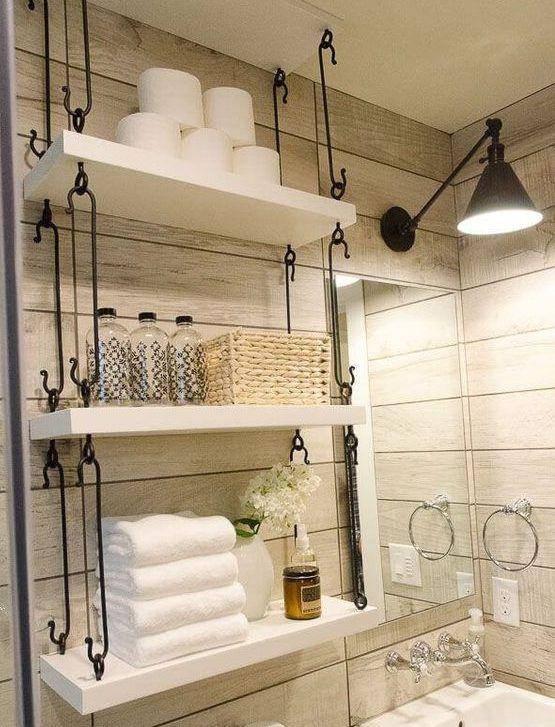 Photo of 16 Fascinating DIY Shelves For Better Bathroom Organization – decorations gram