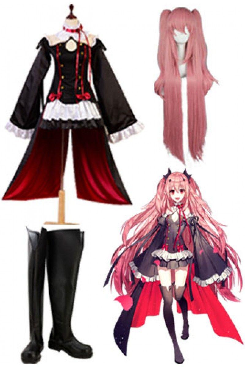 Seraph of the End Krul Tepes Cosplay Costume Attire Vampire Uniform Dress Wig