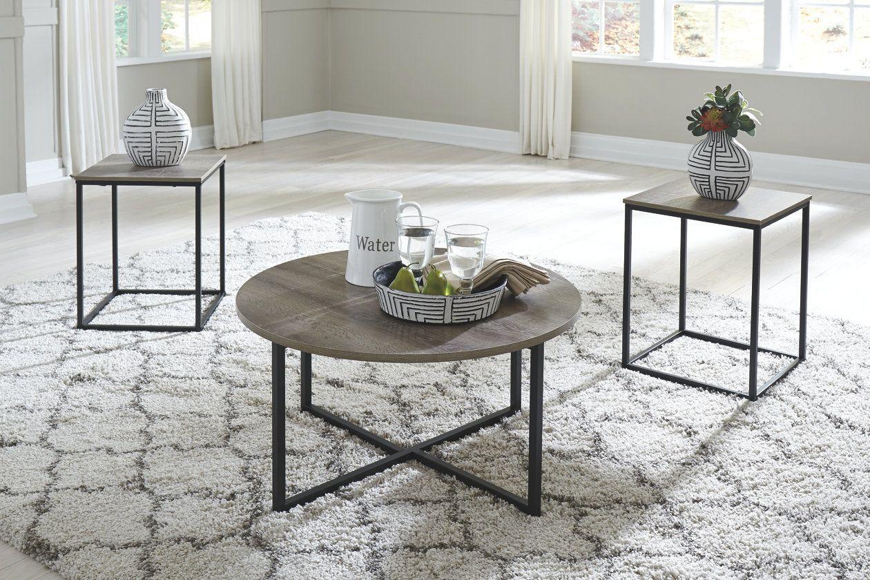 Wadeworth Table Set Of 3 Ashley Furniture Homestore Living Room Table Sets Coffee Table Living Room Table [ 840 x 1260 Pixel ]