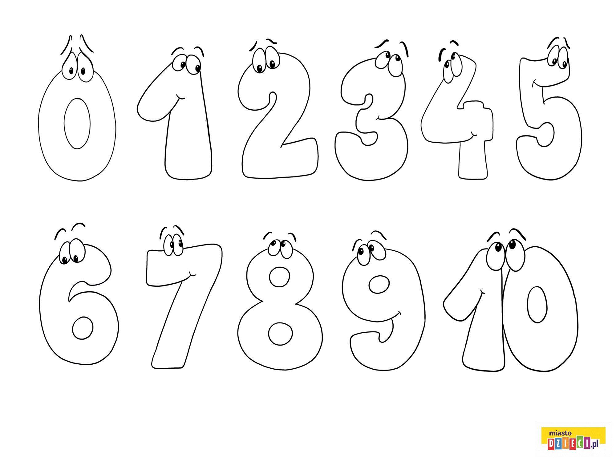 Liczby Cyfry Liczby 1 10 Kolorowanki Malowanki Dla Dzieci Do Drukowania Kids Math Worksheets Lettering Alphabet Alphabet Preschool