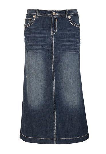 40cf7a78b Hydraulic® Thick Stitch Long Denim Skirt - maurices.com   My Style ...