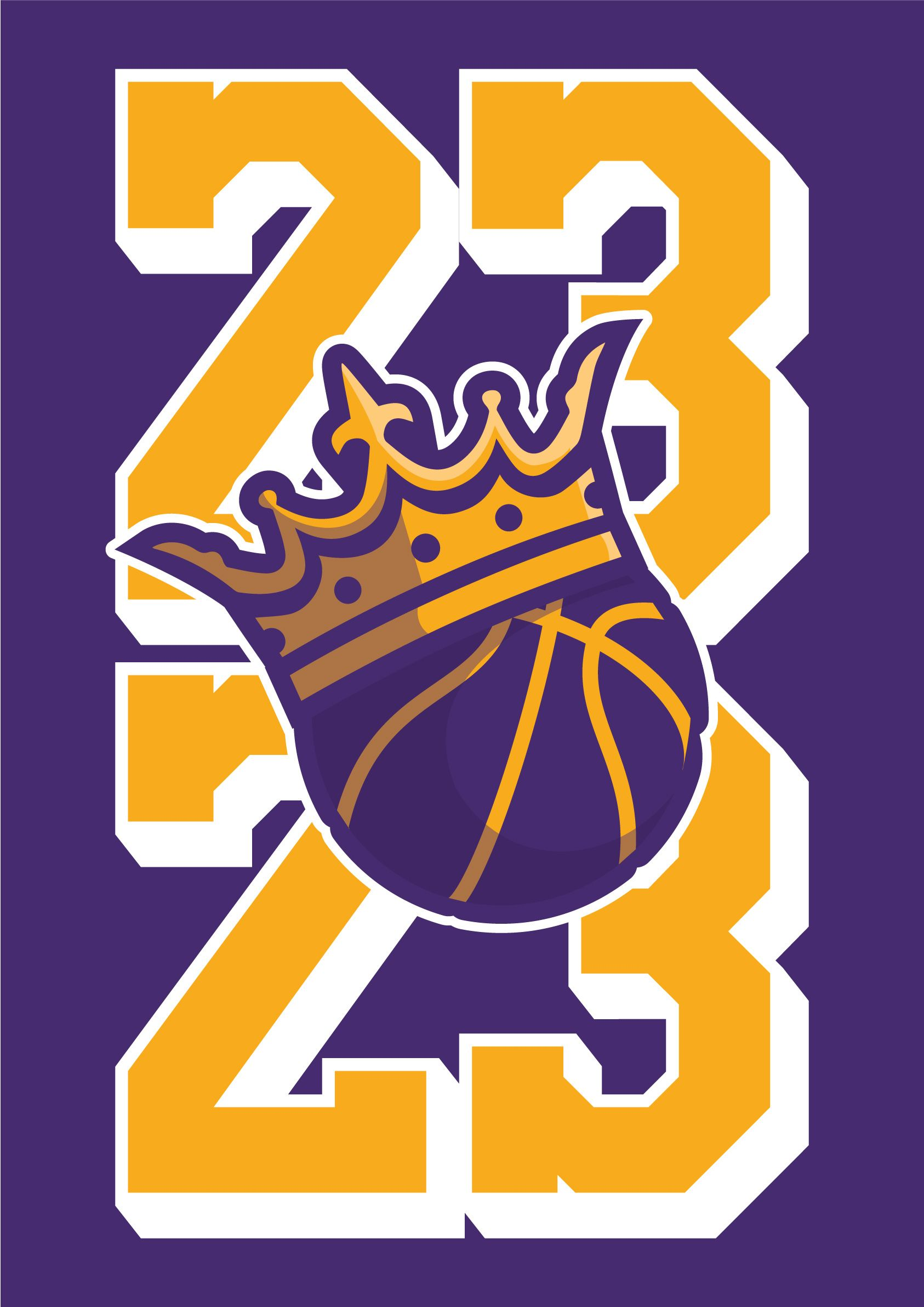 King Of La Minimal Downloadable Wall Art Print Poster By Robot Eats Popcorn Inspired By Lebron James Movin Lebron James Art Lebron James Lebron James Lakers [ 2384 x 1686 Pixel ]