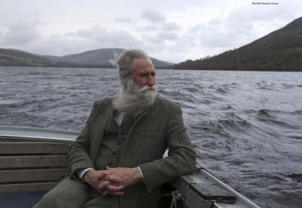 Adrian Shine the leader of the Loch Ness project looks exactly like you'd expect the leader of the Loch Ness project to look.