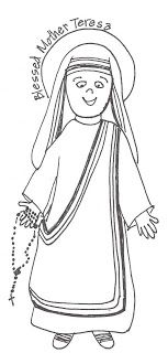 Look to Him and be Radiant: Saints Coloring Pages- Bl. Mother Teresa ...