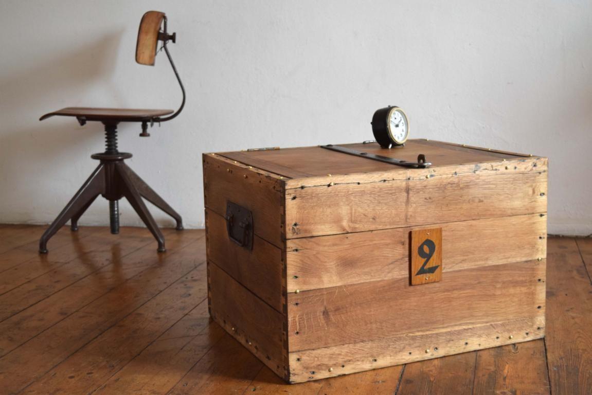 Hochwertig Kiste Holz Holzkiste Antik Eiche Massiv IndustrieDesign Fabrik Alt Truhe  Kasten | EBay