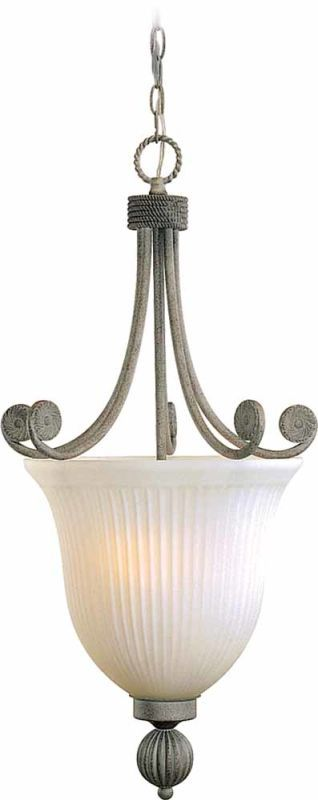 Volume Lighting V7673 Kyoto 3 Light 1 Tier Chandelier Platinum Rust Indoor Lighting Chandeliers
