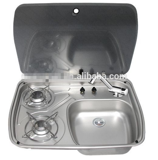 Boat Caravan Camper 2 Burner Gas Stove Hob And Sink Combo With