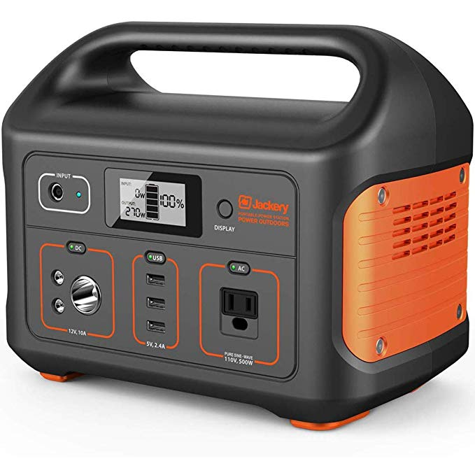 Amazon Com Jackery Portable Power Station Explorer 500 518wh Outdoor Mobile Lithium B In 2020 Portable Solar Generator Portable Power Supply Best Portable Generator