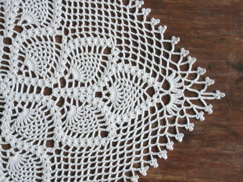 Pineapple Crochet Runner Free Pattern Crochet Square Table Runner