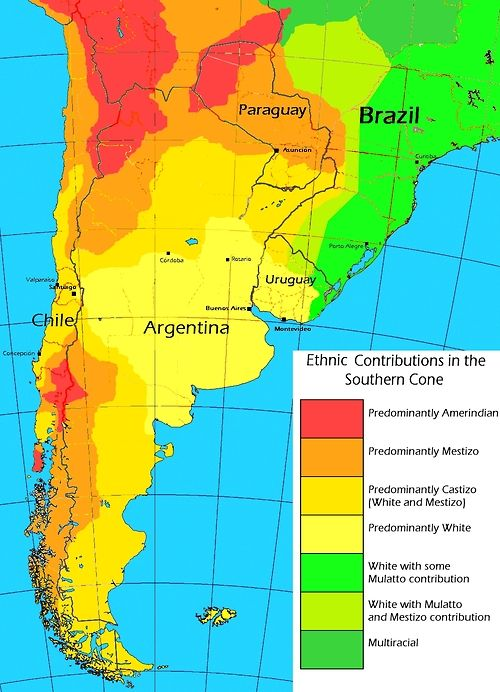 Southern Cone Ethnography | Southern cone, Map, South america