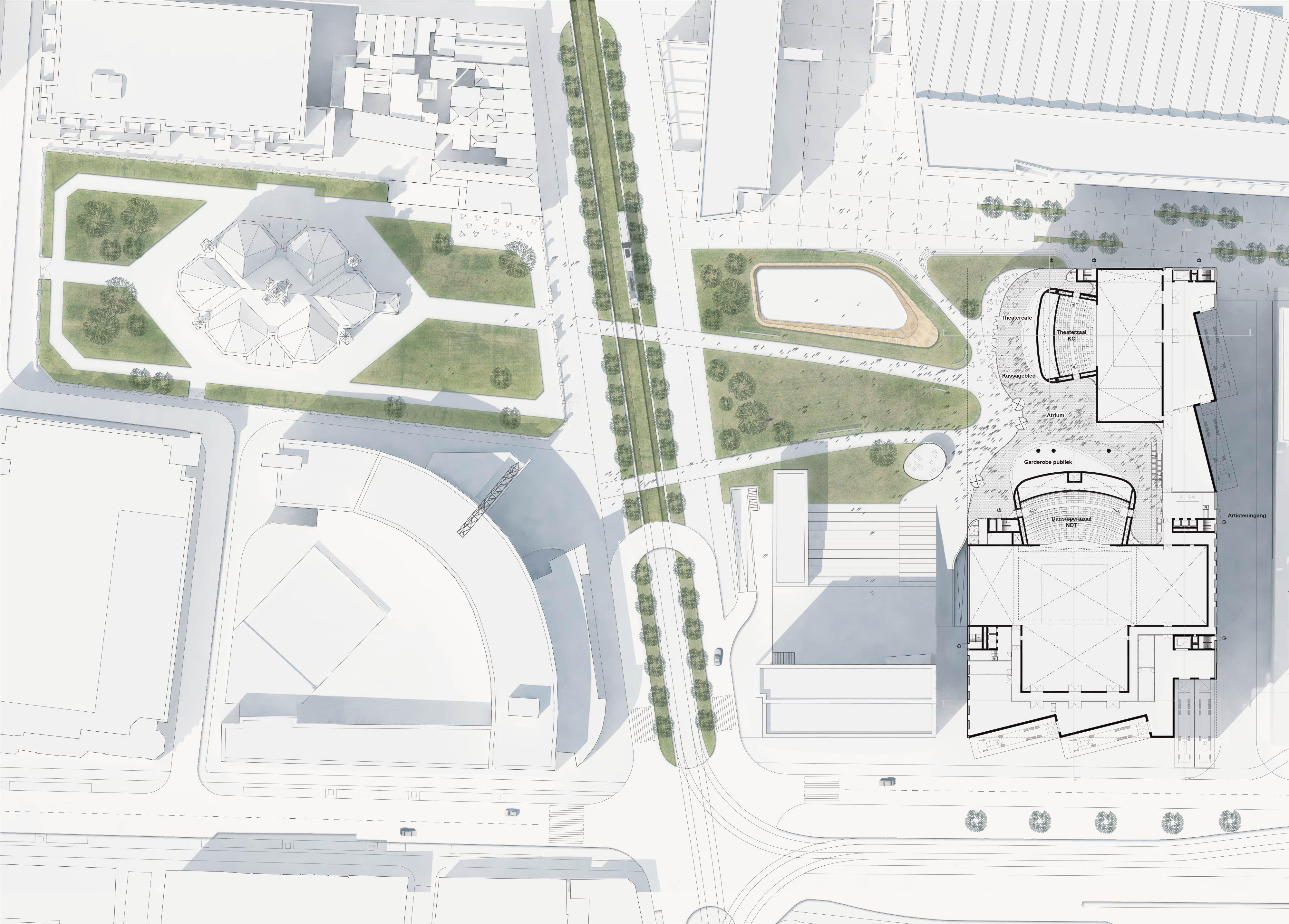 Powerhouse Company DMC The Hague Site Plan Architectural