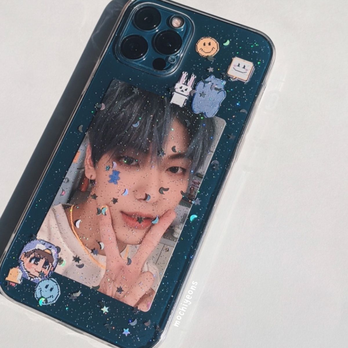 Kpop TXT Soobin Blue Hour Photocard Phone Case Aes