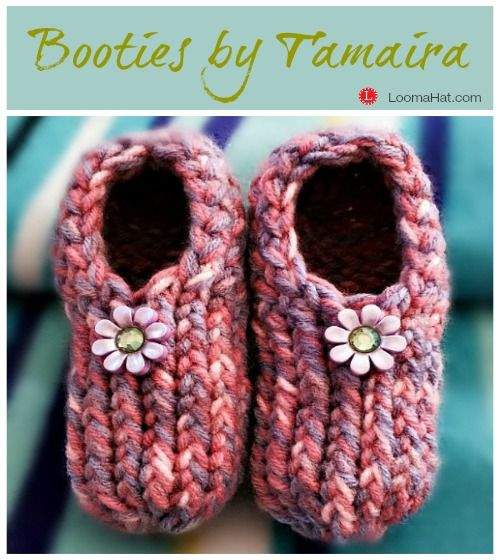 Baby Booties by Tamaira DeVries-Liverance on a small loom. Beginner ...