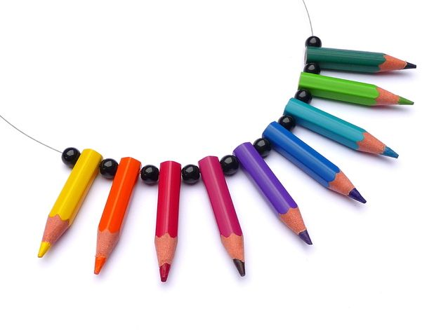Ringe - RING ♥ pencilmania ♥ Gelb & Orange - ein Designerstück von arohanui bei DaWanda