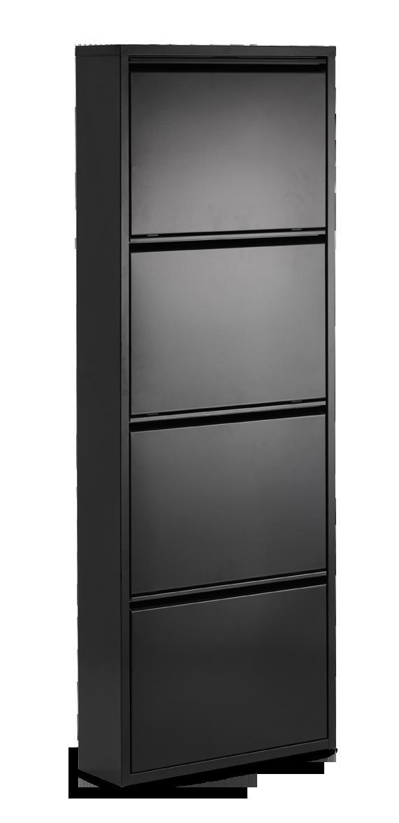 BOX-kenkäkaappi 4 (Musta)