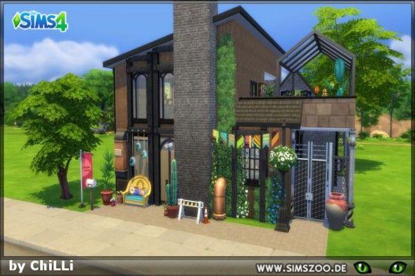 Blackys sims zoo hippie loft by chilli  downloads building ideassims buildinghouse also rh pinterest