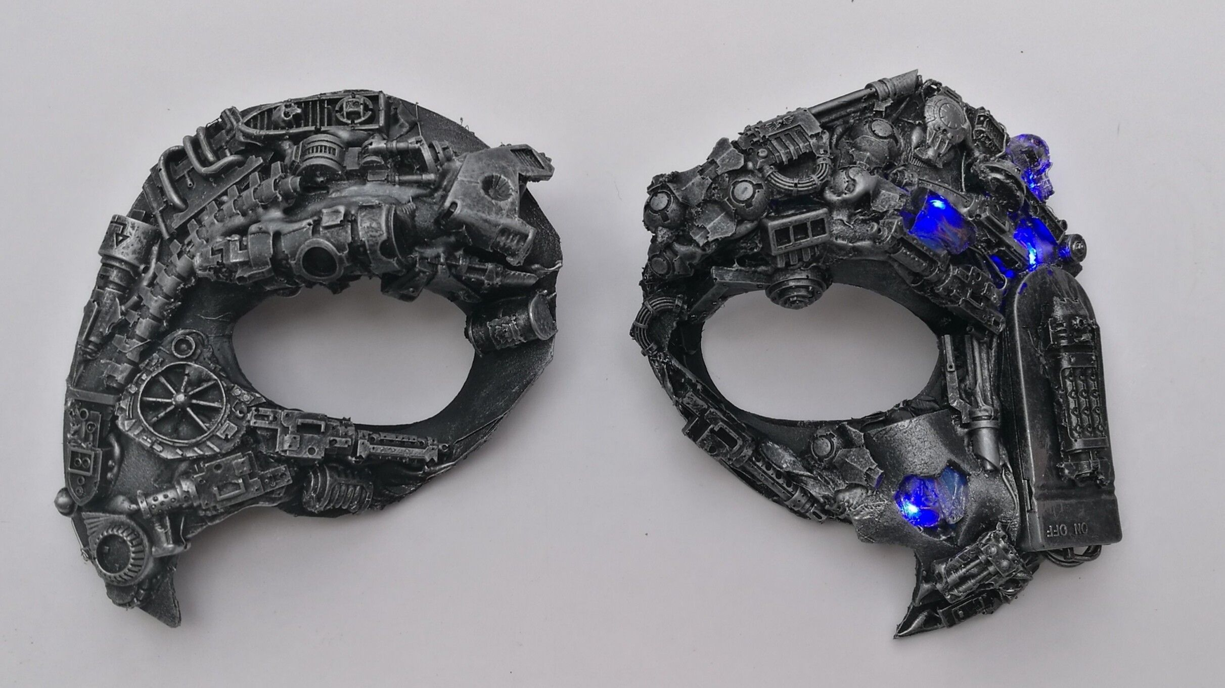 Special commission. A set of Harley Quinn cyberpunk eye masks. For  commissions and sales 3209c2365cc2