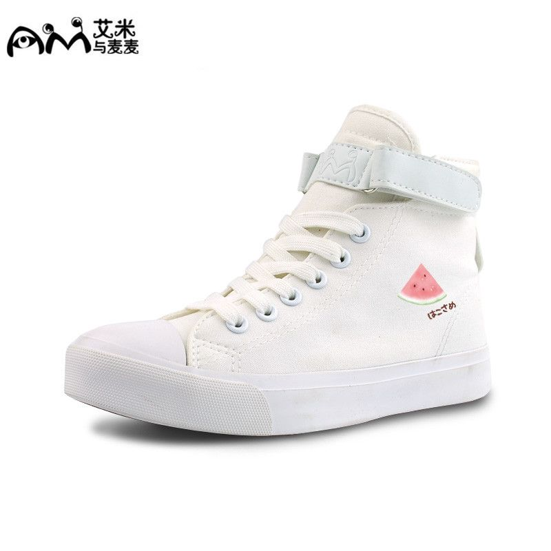 Spring Student Sweet Womens Girl Cute Bowtie Lace Up Canvas Shoes Sneakers Flats