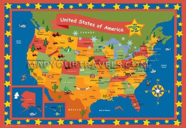 The childrens map poster set is great for identifying all of the the childrens map poster set is great for identifying all of the state capitals major gumiabroncs Images