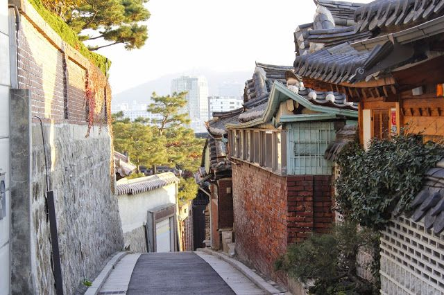 Bukchon Hanok Village(북촌 한옥마을) in Seoul, South Korea