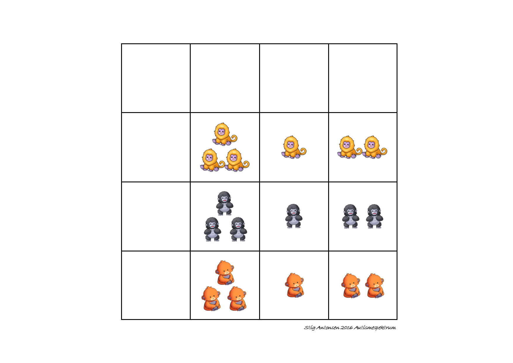 Tiles for the matrix counting game. Find the belonging board on ...