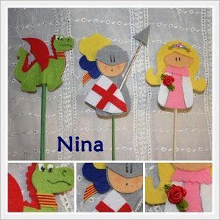 Sant Jordi Sant Jordi Pinterest Castle Crafts Finger Puppets