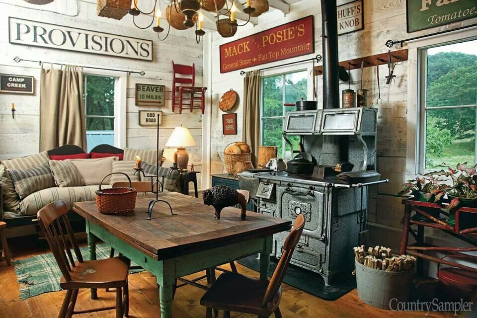 From Country Sampler magazine Country kitchen, Country