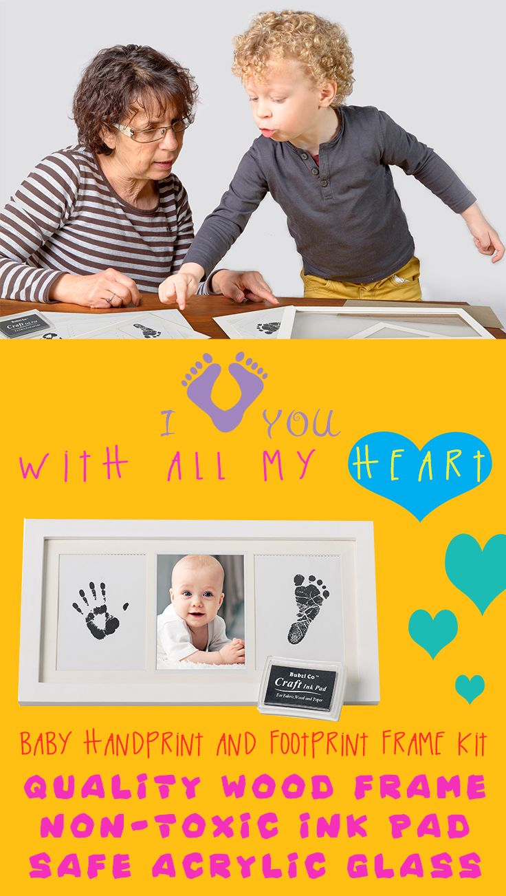 The bubzi co baby handprint kit is a great gift for any new parent