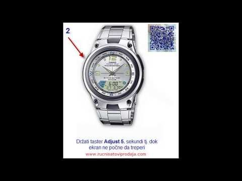 10f4d0b5303 How to Set Analog time on  Casio Aw watch