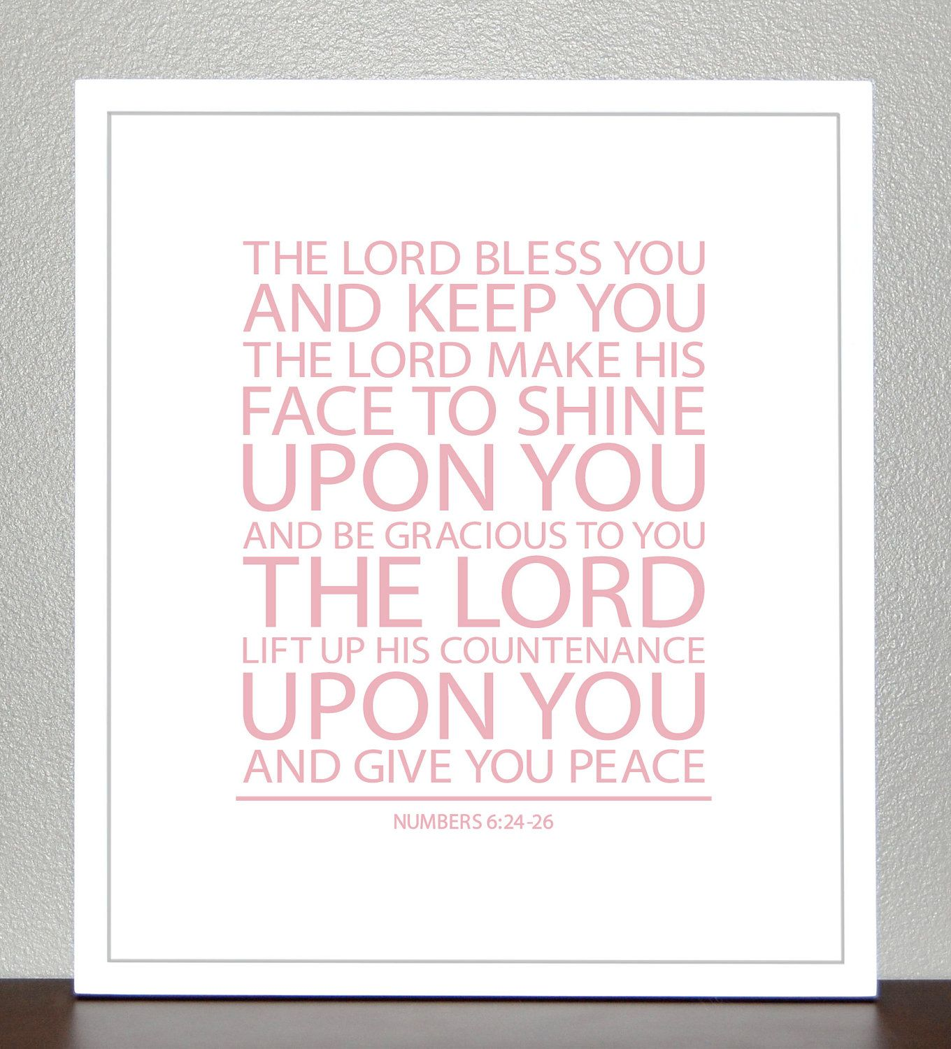 Baptism gift bible verse numbers 6 light pink 8x10 print bible verse numbers 6 light pink 8x10 print fandeluxe Image collections