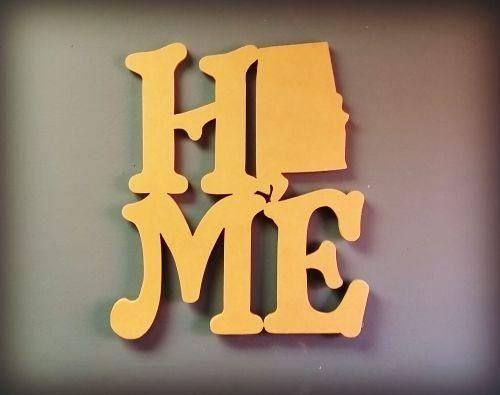 Home State Wooden Shape Alabama Wall Art | West Virginia | Pinterest ...