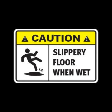 Caution Slippery Floor When Wet 14409 Slippery Floor Floor Stickers Flooring