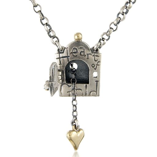 Heart of gold, locket | Contemporary Necklaces / Pendants by contemporary jewellery designer Nick Hubbard