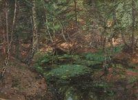 Купить картину Лесная глушь, 1872 , Шишкин, Иван Иванович ... | 146x200