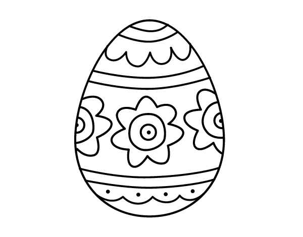 Dibujo De Huevo De Pascua Mandala Para Colorear Auto