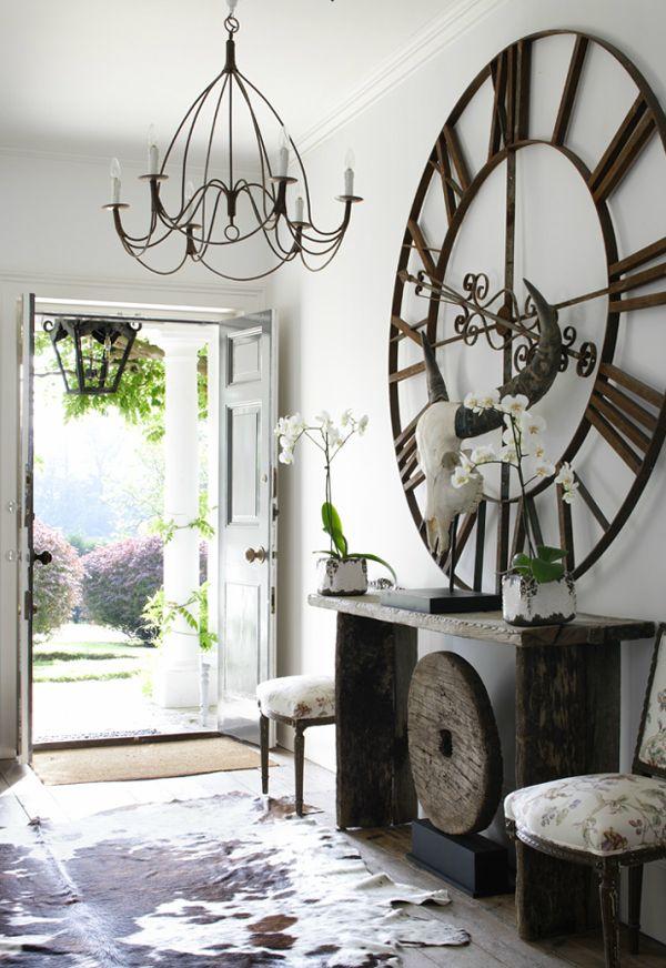 Giant clock Haus Pinterest Esszimmer, Uhren und Wohnideen - schöne wanduhren wohnzimmer