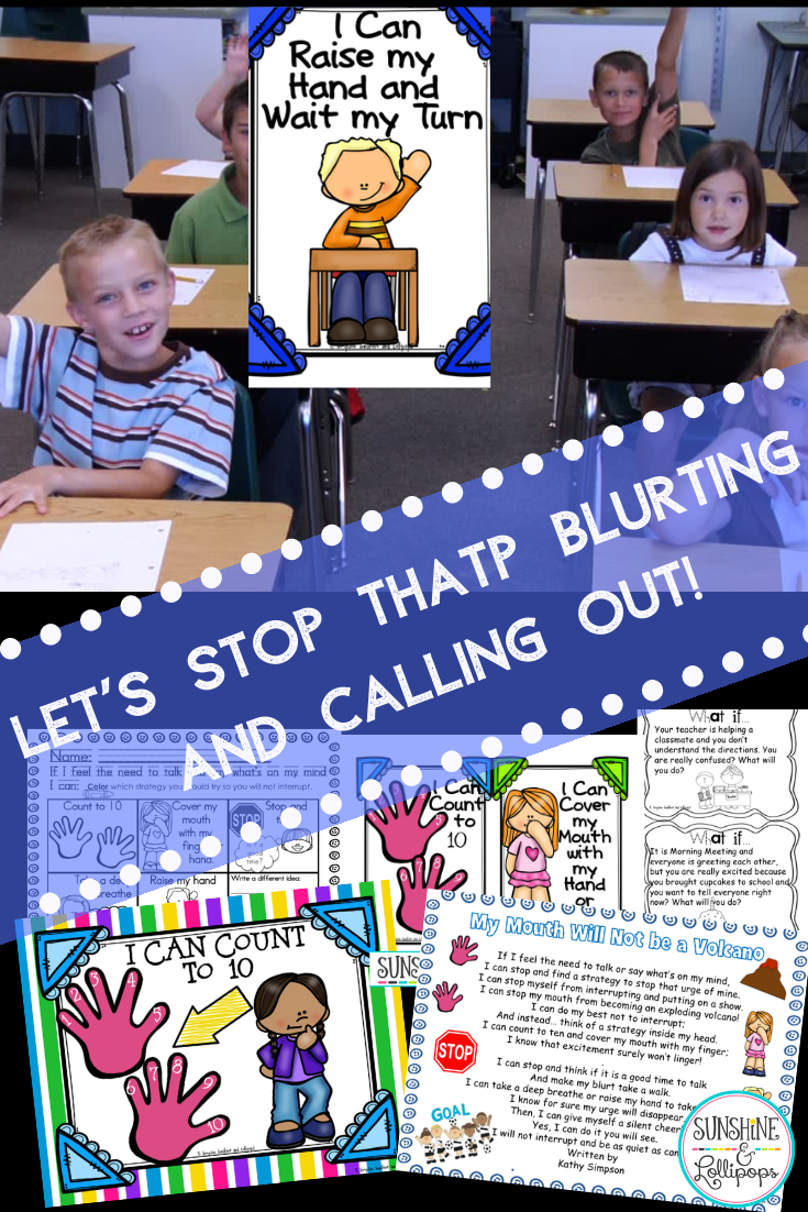 Blurting Out Strategies, Activities, Posters and Task Cards