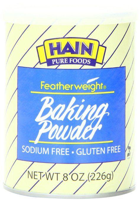 Hain Pure Foods Baking Powder Sodium Free, Gluten Free, Corn