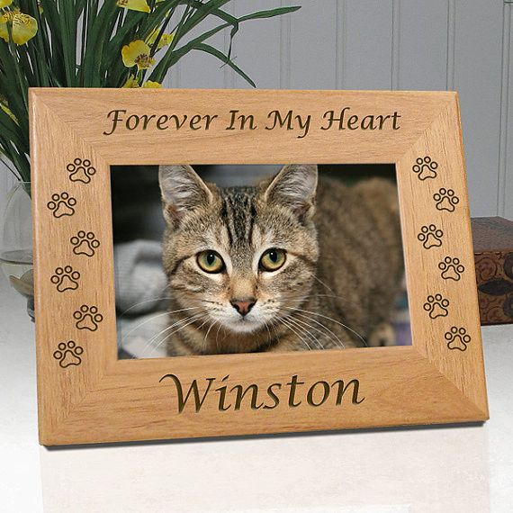 personalized memorial cat frame in loving memory of my sweet girlforever in my