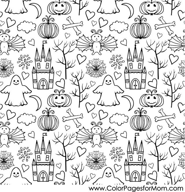 Advanced Coloring Pages Halloween Collage Coloring Page Halloween Coloring Pages Coloring Pages Halloween Coloring