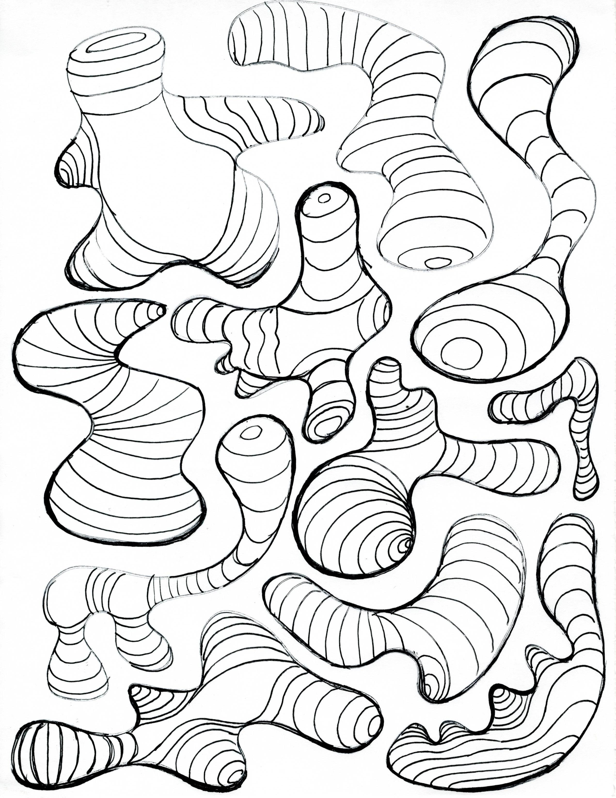 Herpaderpastein Page1 Jpg 2542 3292 Line Art Projects Contour Line Art Cross Contour Line Drawing