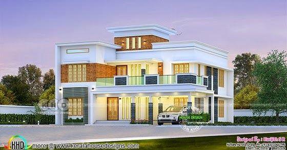 2843 sq-ft 4 bedroom beautiful flat roof house   Flat roof ...