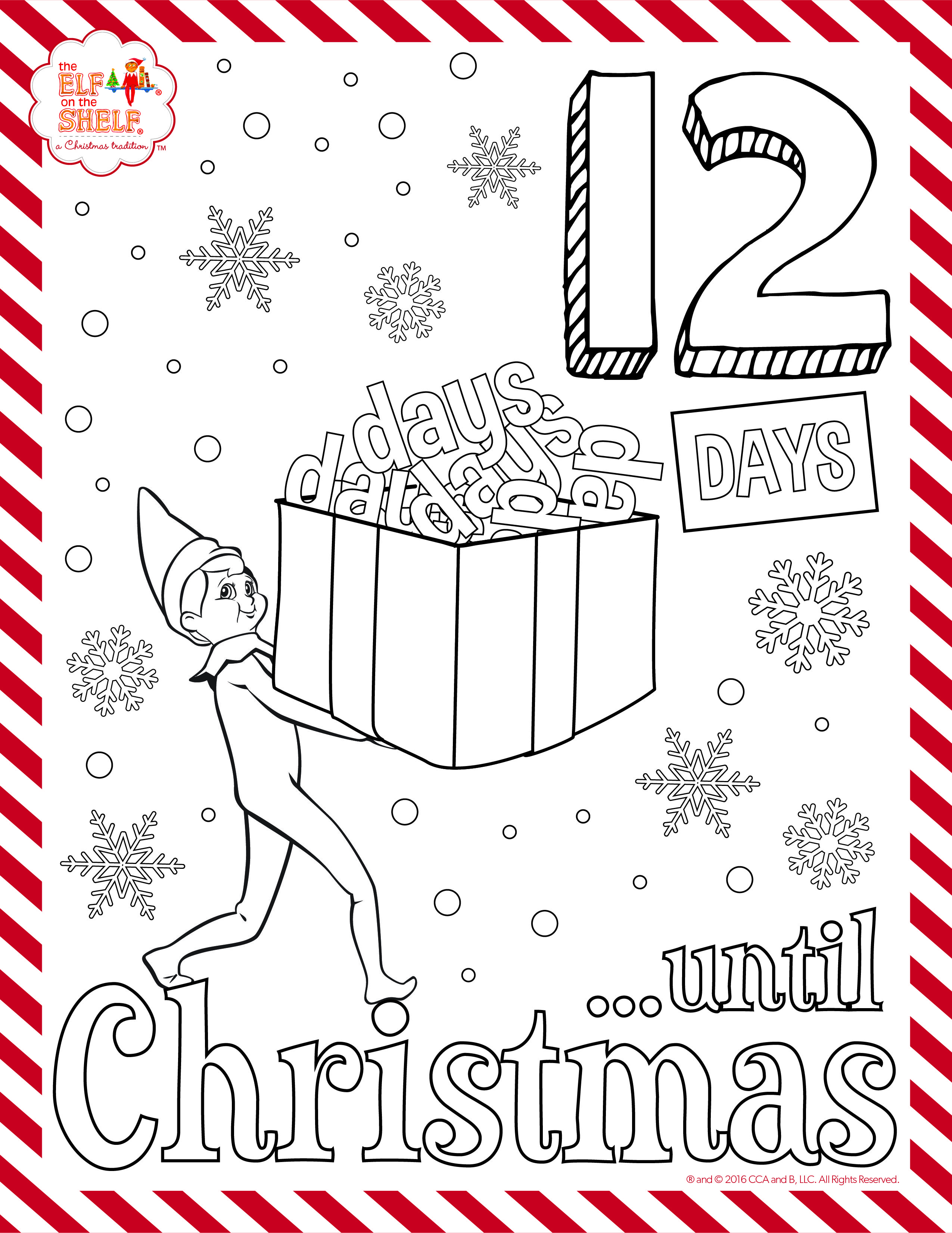 Get the full set of coloring pages to countdown with on facebook christmas 2016 coloring pages kids activities elf on the shelf ideas