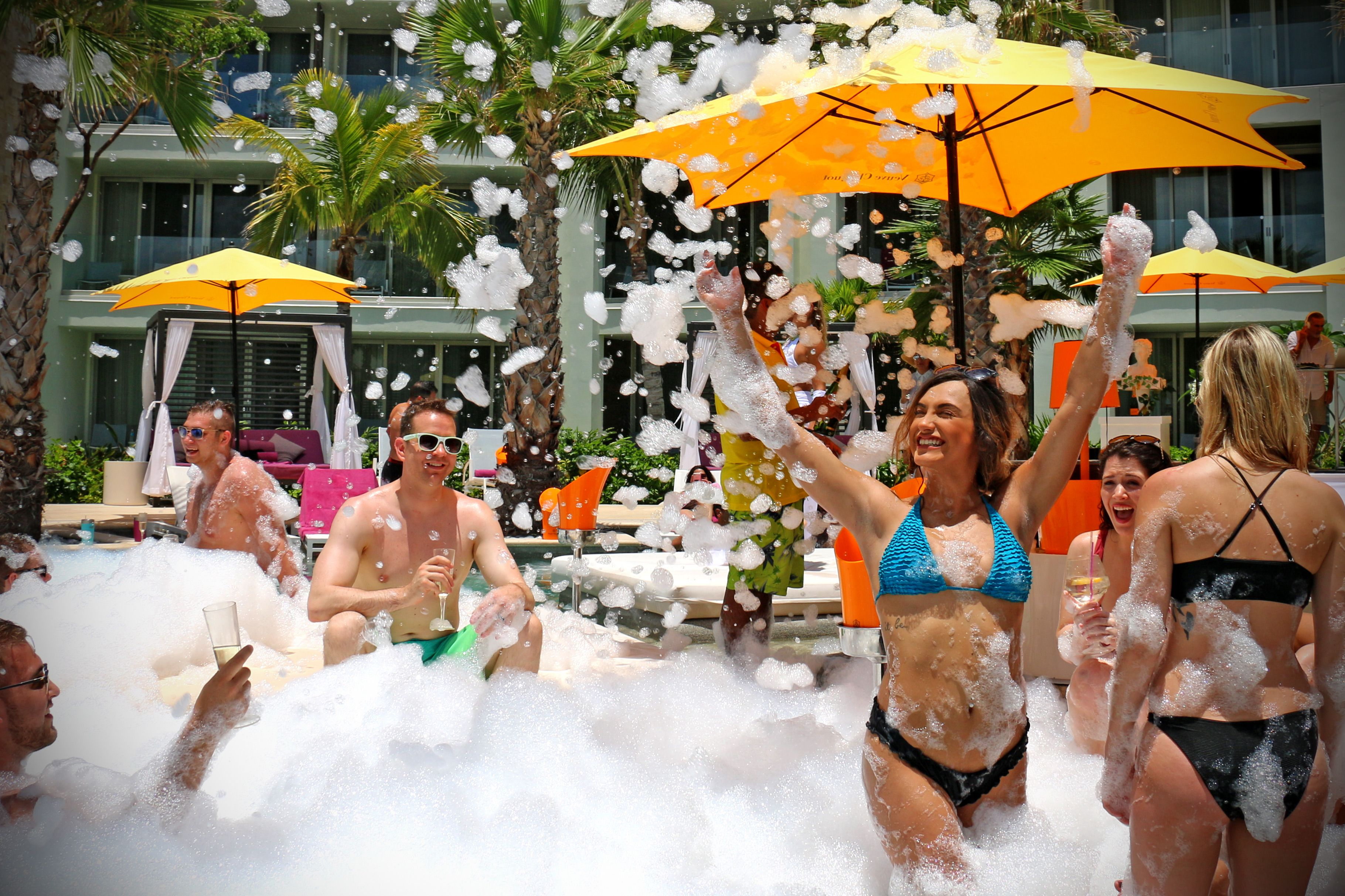 Splash Around In The Foam Party At Breathless Riviera Cancun For The Ultimate Bachelorette Party Riviera Cancun Riviera Cancun Resort Cancun Resorts