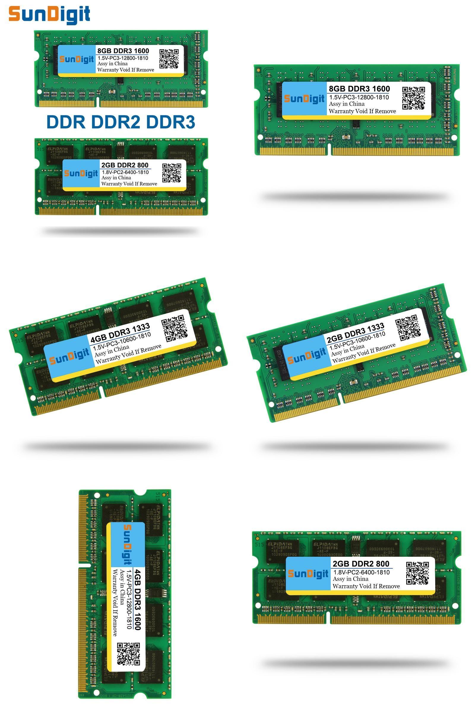 Visit To Buy Brand Sundigit Laptop Memory Ram Ddr1 Ddr2 Ddr3 400mhz Ddr 1 512 Mb 800mhz 1333mhz