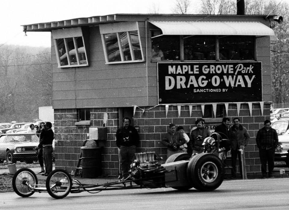 Maple Grove, early days. OldSchoolNHRA Drag racing