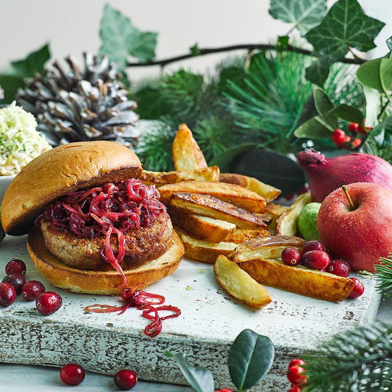 Christmas Turkey Burger | Recipe | Turkey burger recipes ...