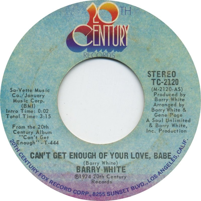Can T Get Enough Of Your Love Babe Barry White 1974 Soul