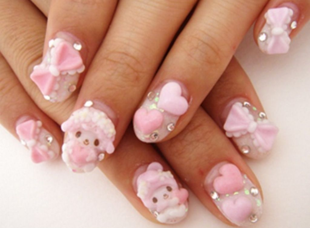 My melody decoden nails   Nail Ideas   Pinterest   Decoden and ...
